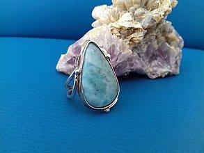 Prstene - prsteň s larimarom - 9608198_