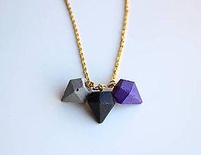 Náhrdelníky - Betónový náhrdelník diamanty - 9607615_
