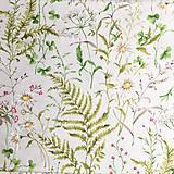 Textil - letná lúka, pevná zmesová látka, šírka 140 cm, cena za 0,5 m - 9606001_