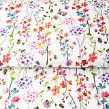 - zakvitnutá lúka, 100 % predzrážaná bavlna Španielsko, šírka 150 cm, cena za 0,5 m - 9606197_