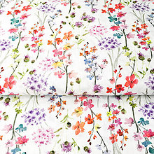 Textil - zakvitnutá lúka, 100 % predzrážaná bavlna Španielsko, šírka 150 cm, cena za 0,5 m - 9606197_