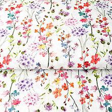 eb2128810 Textil - zakvitnutá lúka, 100 % predzrážaná bavlna Španielsko, šírka 150  cm, cena