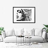 Obrazy - Akvarelový obraz na objednávku - čiernobiely (S čiernym rámom 40x50) - 9608949_