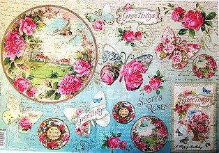 Papier - Ryžový papier 48x33 cm- Stamperia - 9606588_