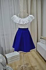 - Skladaná sukňa na bežné nosenie  (obvod pásu do 85cm) - 9606435_