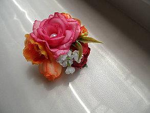 Prstene - kvetinový prsteň - 9607781_