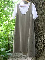 Ľanová šatová sukňa