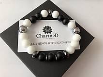 Náramky - Náramok Black&White / Black&White Bracelet - 9608064_