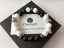 Náramky - Náramok Black&White / Black&White Bracelet - 9608066_