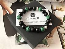 Náramky - Náramok Zelený Malachit / Green Malachite Bracelet - 9608130_