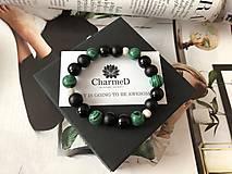 Náramky - Náramok Zelený Malachit / Green Malachite Bracelet - 9608143_