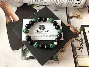 Náramky - Náramok Zelený Malachit / Green Malachite Bracelet - 9608128_