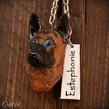 Kľúčenky - Belgický ovčiak - malinois - kľúčenka podľa fotografie - 9605801_