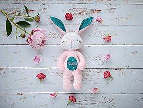 Hračky - Zajačik ružovo-smaragdový - 9605992_