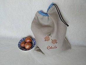 Úžitkový textil - Ľanové vrecko Tunlem na cibuľu - 9606954_