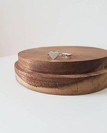 Prstene - Prsteň so srdiečkom striebro - 9608660_