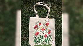 Iné tašky - ♥ Plátená, ručne maľovaná taška ♥ - 9607417_