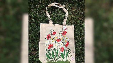 Iné tašky - ♥ Plátená, ručne maľovaná taška ♥  (S8) - 9607417_