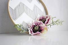 Dekorácie - Kvetinový veniec malý ,,maky,, - 9607150_