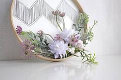 Dekorácie - Kvetinový veniec malý ,,lúčny,, - 9607181_