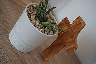 Dekorácie - Svadobný krížik z jabloňového dreva - 9606186_