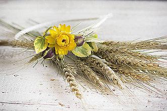 Ozdoby do vlasov - Kvetinová čelenka Slniečko - 9606399_