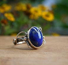 Prstene - Laurie - strieborný prsteň s lapisom lazuli - 9607491_