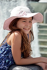 Letný klobúk sviatočná ružová
