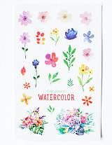 - Akvarelový set - nálepky  (Akvarel VI.) - 9608541_