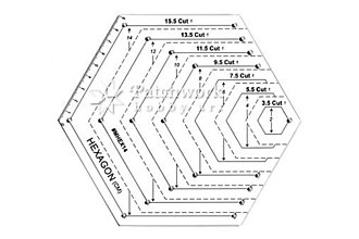 Pomôcky/Nástroje - Pravítko Hexagon - 9606567_