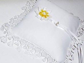 Prstene - Svadobný vankúšik - 9608752_