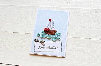 Papiernictvo - svadobná pohľadnica - 9608499_