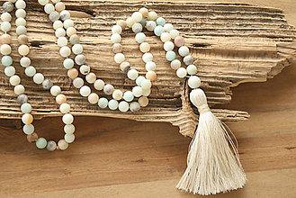 Náhrdelníky - Mala náhrdelník amazonit - 9610701_