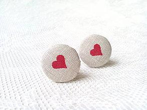 Náušnice - BonBonky Hearts (clips) - 9609275_