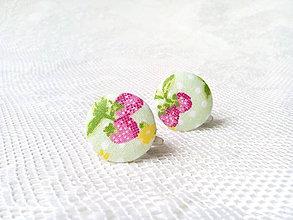 Náušnice - BonBonky Strawberries (clips) - 9609313_
