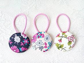 Ozdoby do vlasov - BonBon gumičky – buttonky (Summer flowers) - 9609341_