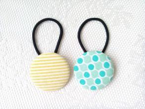 Ozdoby do vlasov - BonBon gumičky – buttonky (Summer vibes) - 9609379_