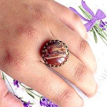 Prstene - Bronze Romantic Jasper Ring / Bronzový prsteň s jaspisom - 9609676_