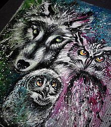 Kabelky - vlk a sovy - 9609197_