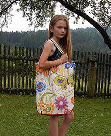 Veľké tašky - Veľká taška - Na lúke / motýle - 9611294_