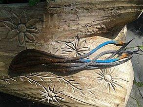 Ozdoby do vlasov - vlnené dredy - obmré - 9610113_