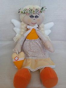 Bábiky - anjelka s venčekom - 9609351_