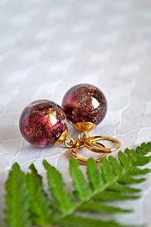 Náušnice - Náušnice Guličky ruža a zlato (2345 B CHO) - 9609921_