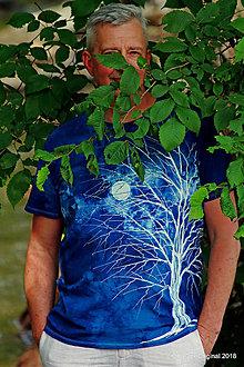 Tričká - Pánske tričko batikované, maľované SVÄTOJÁNSKA NOC - 9609410_