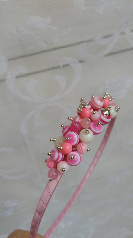 Cukríky ružové ...čelenka   kiflike - SAShE.sk - Handmade Ozdoby do ... 47a963853b7