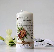 Svietidlá a sviečky - Dekoračná sviečka pre pani učiteľky - 9609016_