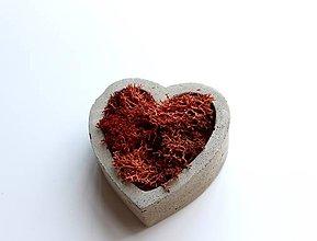 Nádoby - Betónový mini kvetináč s islandským machom - 9610368_
