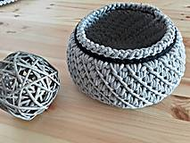 Košík Scandinavia šedo - čierny