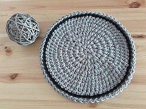 Úžitkový textil - Prestieranie Scandinavia šedo - čierne - 9609773_