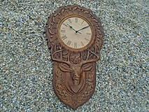 Hodiny - hodiny s jeleňom - 9609462_